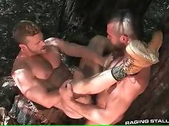 Hot Toned Studs Are Fucking In Forest 4