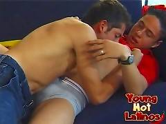 Hot Latino twinks having gay sex