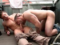 Muscled Dude Sucks And Rides Hard Dick 2