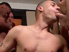 Horny Fellow Enjoys Nice Group Cockattack 1