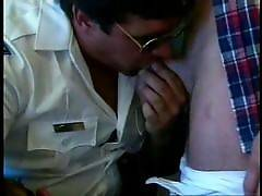 The tough security guys get down with the hot gay bears. Watch this threesome of tough guys in uniform as they take pleasure in taking turns to blow each others whistles. Check out those hard and loaded cocks in the verge of exploding in point blank. Josh